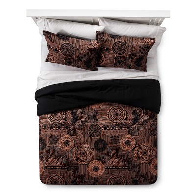 Black & Tan Geo Comforter Set (Twin/ Twin XL)- Xhilaration™