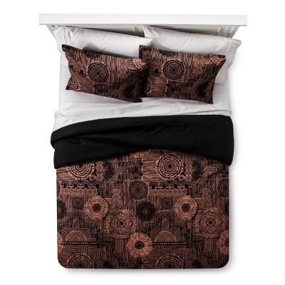 Black & Tan Geo Comforter Set (Full/ Queen)- Xhilaration™