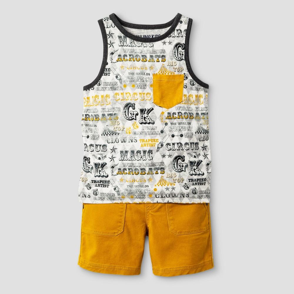 Toddler Boys Tank Top Set Genuine Kids from OshKosh Heather Gray/Gold 3T