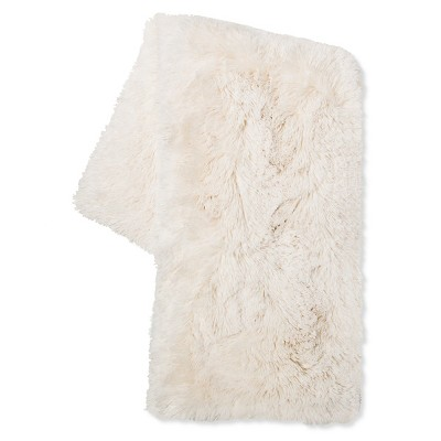 Cream Long Faux Fur Throw - Xhilaration™