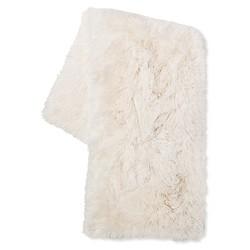 Cream Long Faux Fur Throw - Xhilaration™