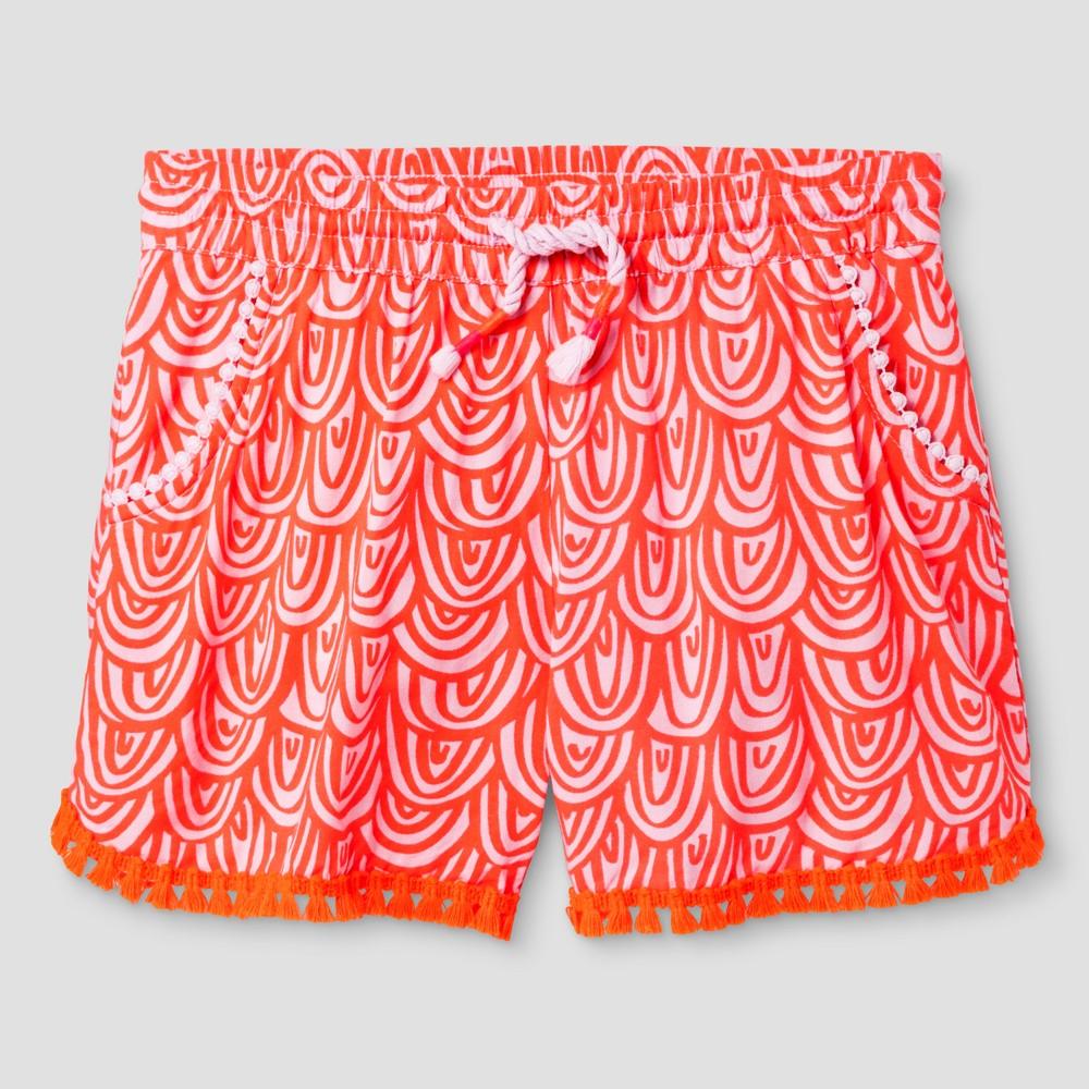 Plus Size Girls Printed Fashion Shorts - Cat & Jack Orange Plus L, Size: L Plus