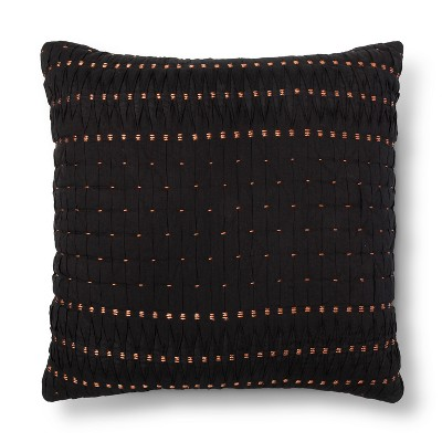 Black Pleated Euro Pillow - Xhilaration™