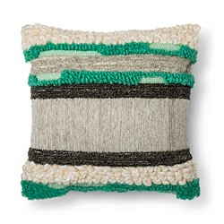 Green & Gray Woven Square Throw Pillow - Xhilaration™