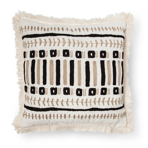 Black tan embroidered pillow xhilaration target Xhilaration home decor