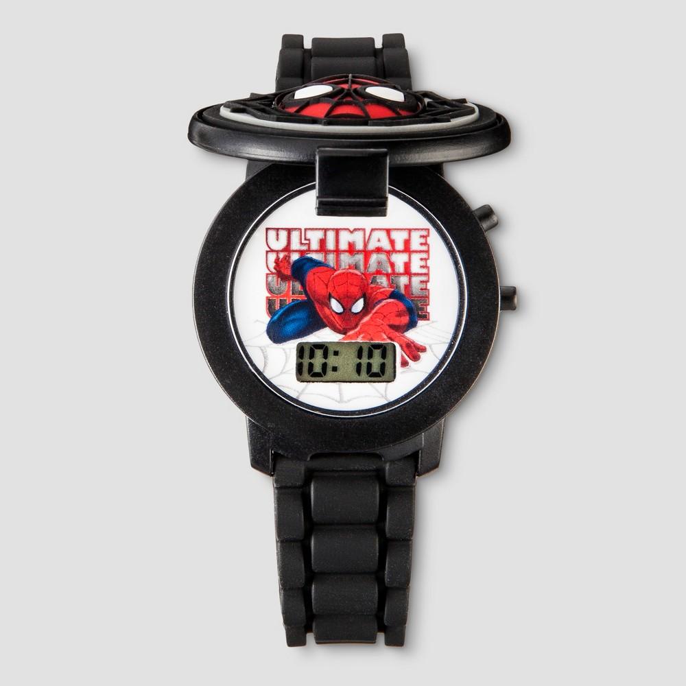 Boys' Spider-Man Flip Top Lcd Watch - Black