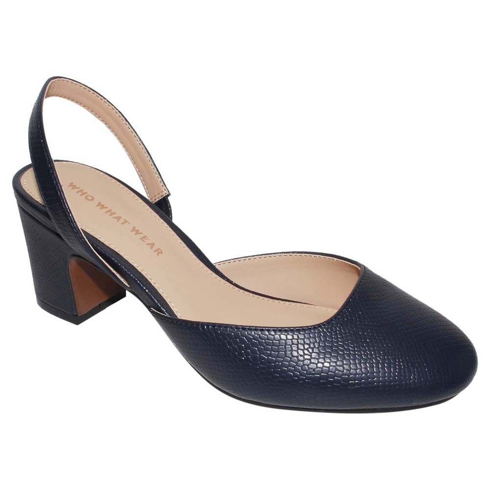 Womens Annalise Slingback Pumps Who What Wear - Navy (Blue) 8.5