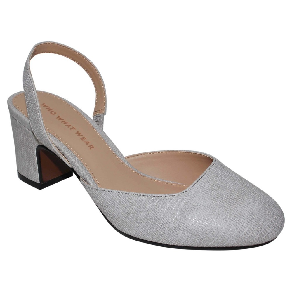 Womens Annalise Slingback Pumps Who What Wear - Gray 9.5