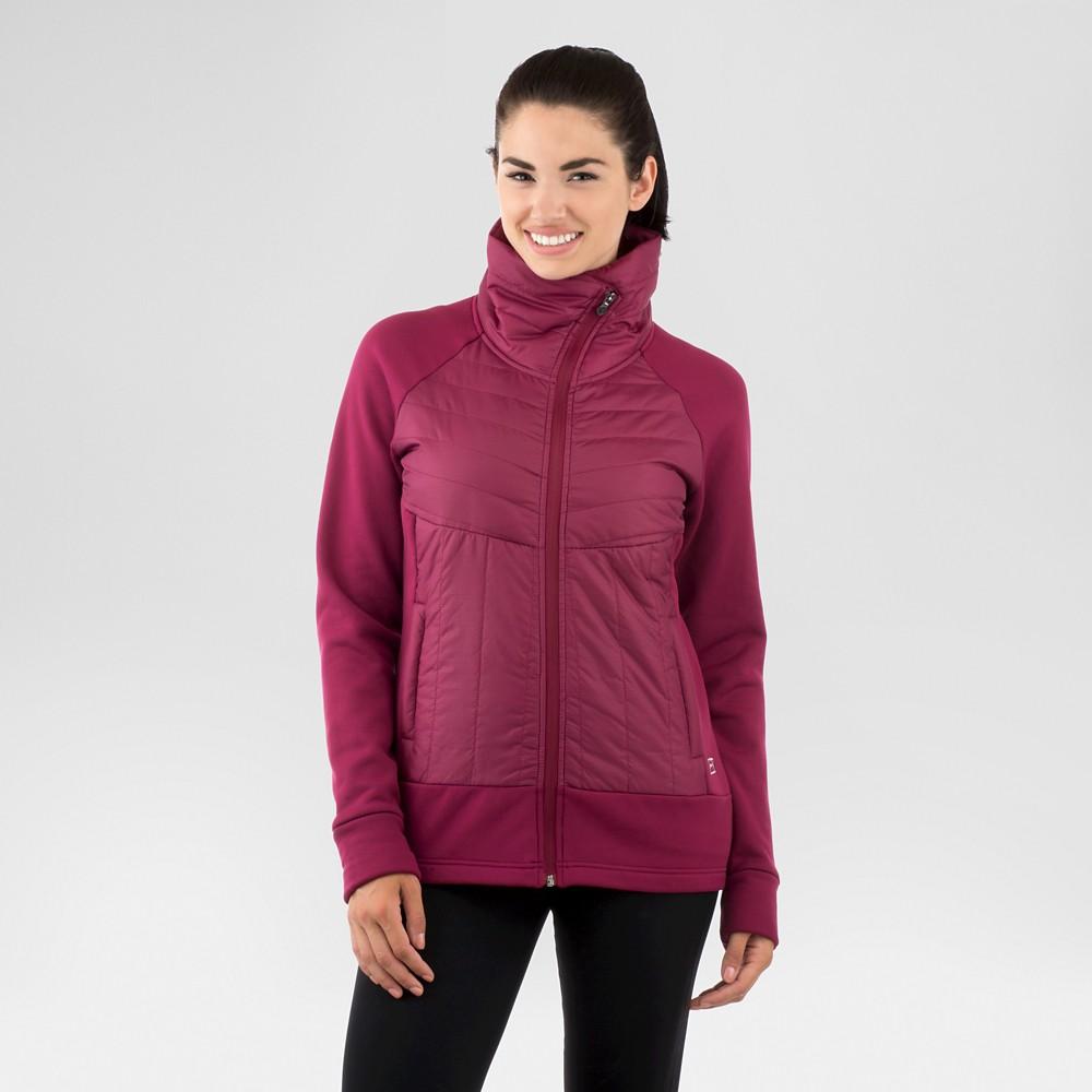 Women's Terra Hybrid Jacket – Black L – Avalanche, Berry Red