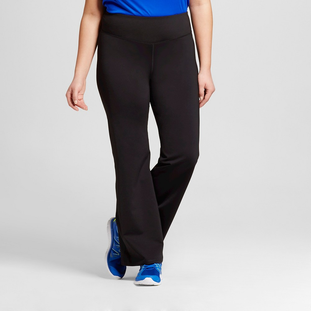 Womens Plus-Size Embrace Flare Yoga Pants - C9 Champion - Black 4X