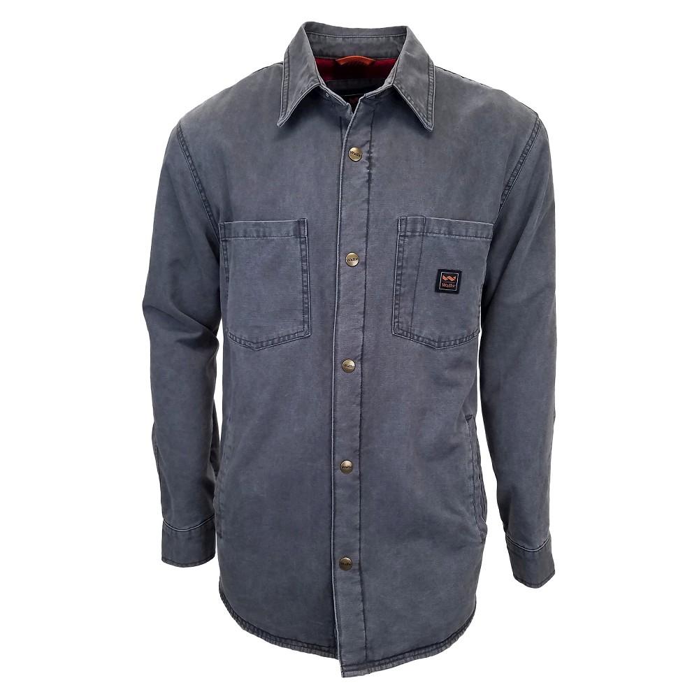 Walls Vintage Duck Shirt Jacket Washed Graphite (Grey) L, Mens