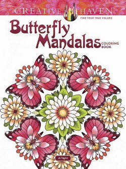 Creative Haven Butterfly Mandalas Coloring Book (Paperback) (Jo Taylor)