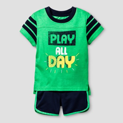 Baby Boys' Top and Bottom Set Cat & Jack™ - Island Green 12M