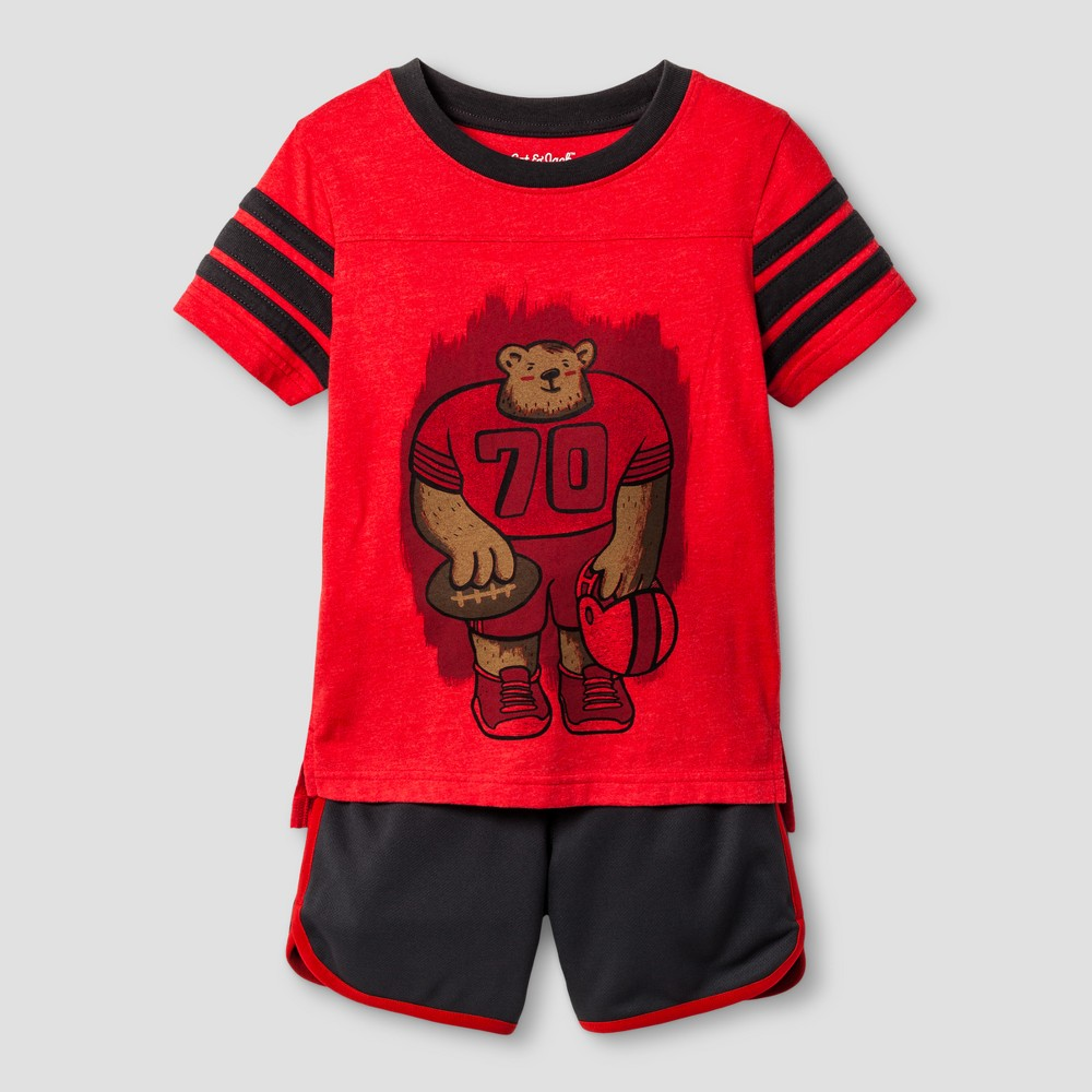 Toddler Boys Top and Bottom Set Cat & Jack - Really Red 2T