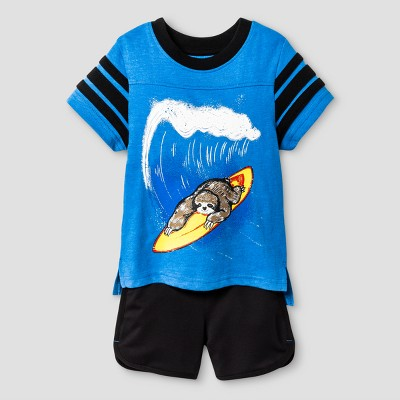 Baby Boys' Top and Bottom Set Cat & Jack™ - Bluebell 12M