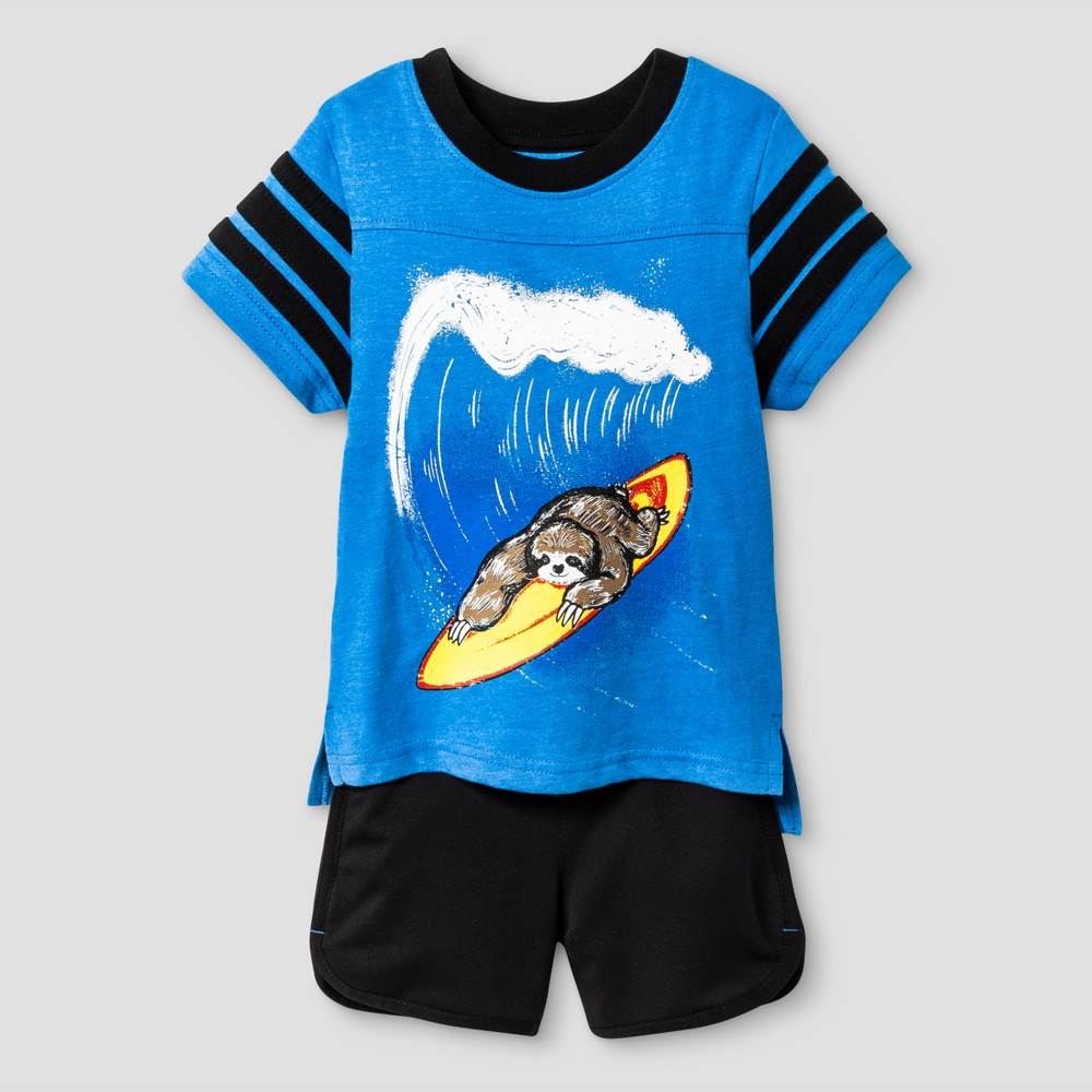 Baby Boys Top and Bottom Set Cat & Jack - Bluebell 12M, Size: 12 Months, Blue