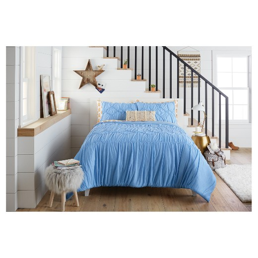 Boho embroidered pillow with fringe trim sequin Xhilaration home decor
