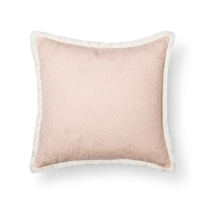 Coral Embroidered Medallion Pillow - Xhilaration™