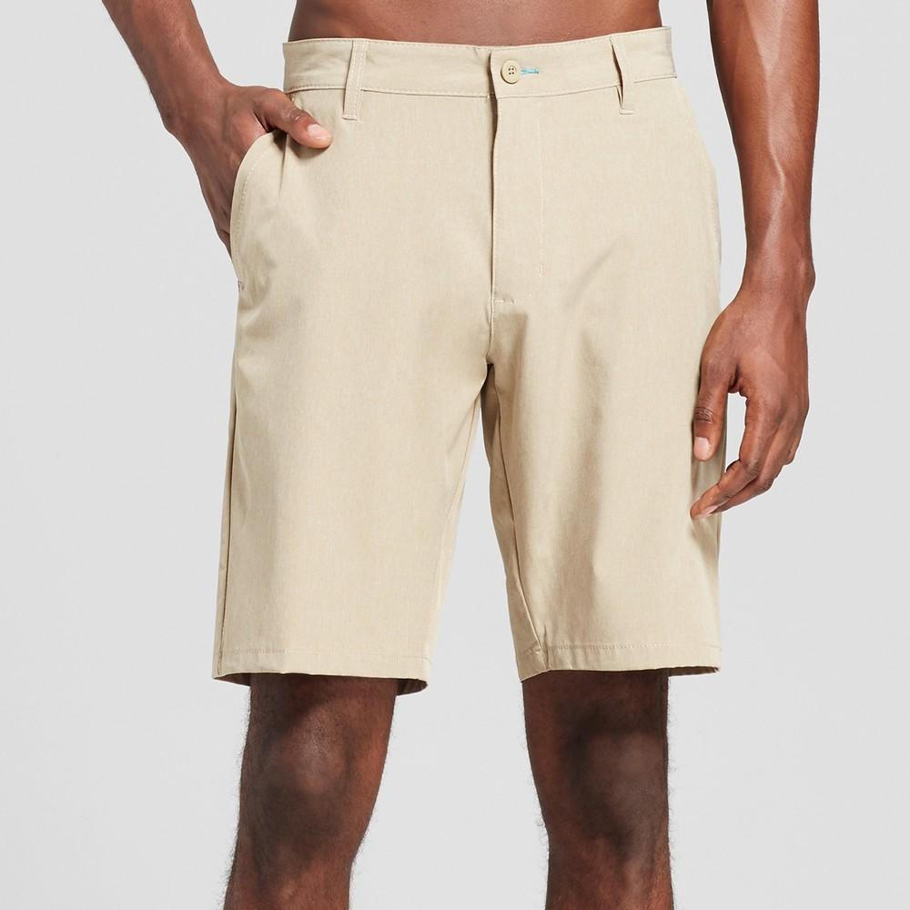 Mens Yarn-Dye Hybrid Shorts Khaki (Green) 40 - Burnside