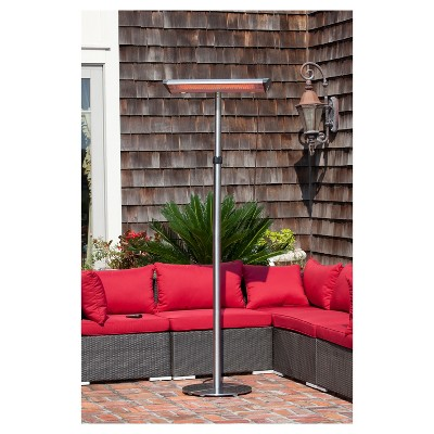 Morrison Dual Head Floor Standing Halogen Patio Heater   Fire Sense