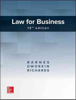 Law for Business (Hardcover) (A. James Barnes & Terry Morehead Dworkin & Eric L. Richards)