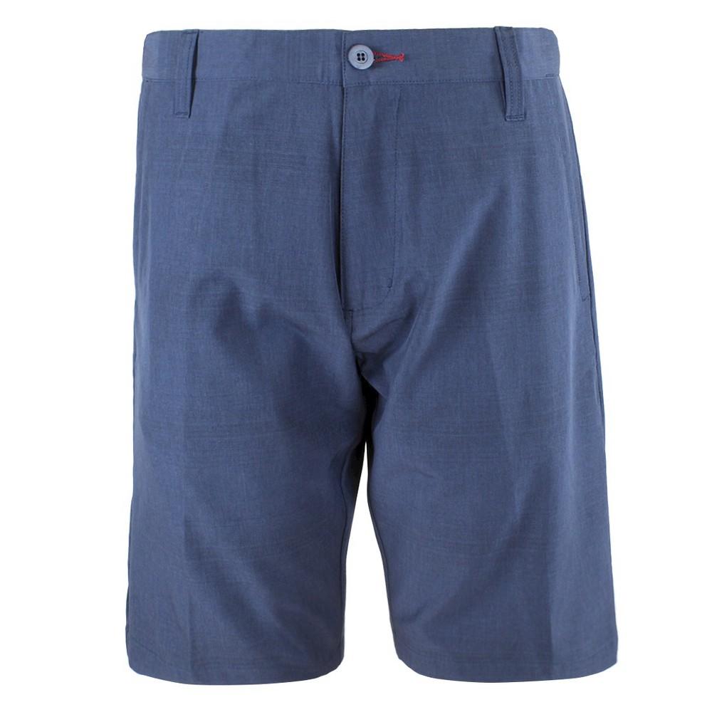 Mens Stripe Hybrid Shorts Blue 34 - Burnside