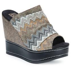 Women's MUK LUKS® Peyton Wedge Slide Sandals - Gray