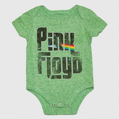 Pink Floyd Baby Boys' Eclipse Onesie - Green 0-3M