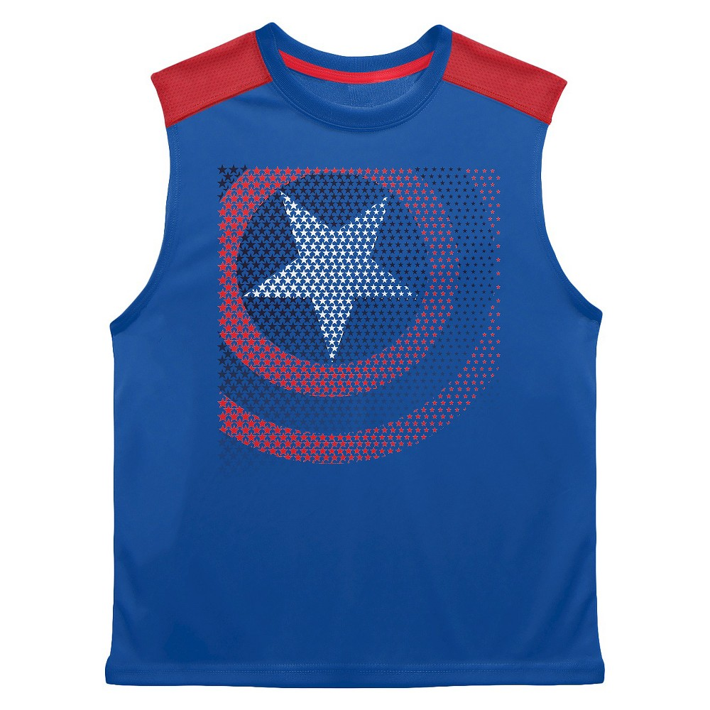 Boys Avengers Tank Top Blue XL