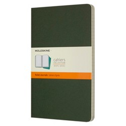 Moleskine™ Lined Journals Large 3ct - Green Cahier Softcover