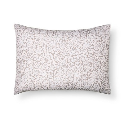 Gray Floral Pillowcase - Xhilaration™