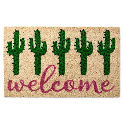 Welcome Cactus Tufted Doormat - (1'6 X2'6 )