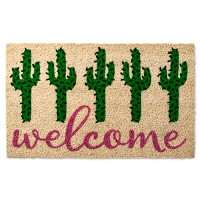 "Welcome Cactus Tufted Doormat - (1'6""X2'6""). opens in a new tab."