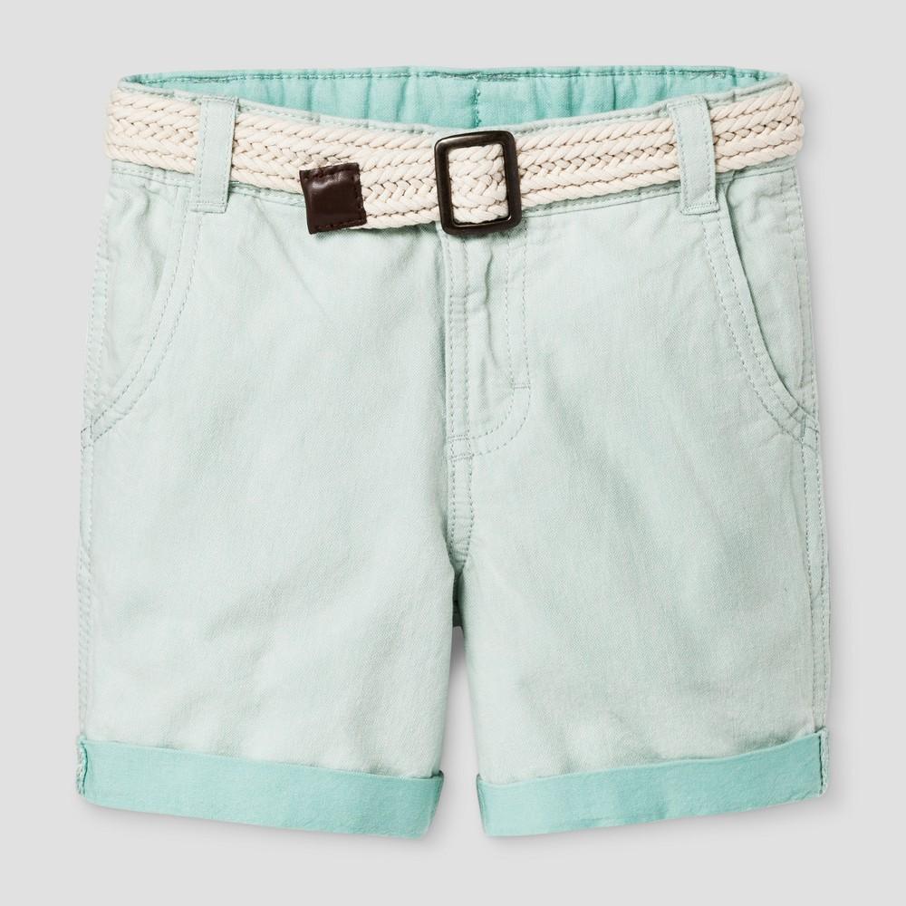 Toddler Boys Cuffed Shorts Genuine Kids from OshKosh - Ocean Green 2T, White