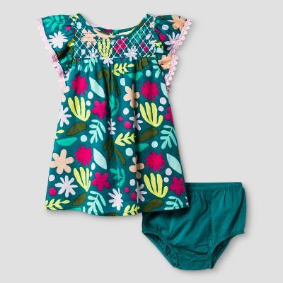 Toddler Girls' A Line Dresses - Cat & Jack™ Peppermint Stick 12M