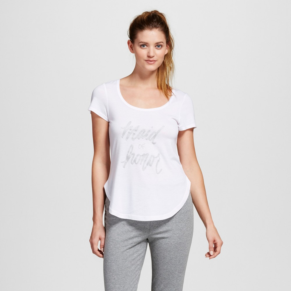 Bride & Beauties by Bedhead Pajamas Womens Maid of Honor Sleepwear T-Shirt - White XL