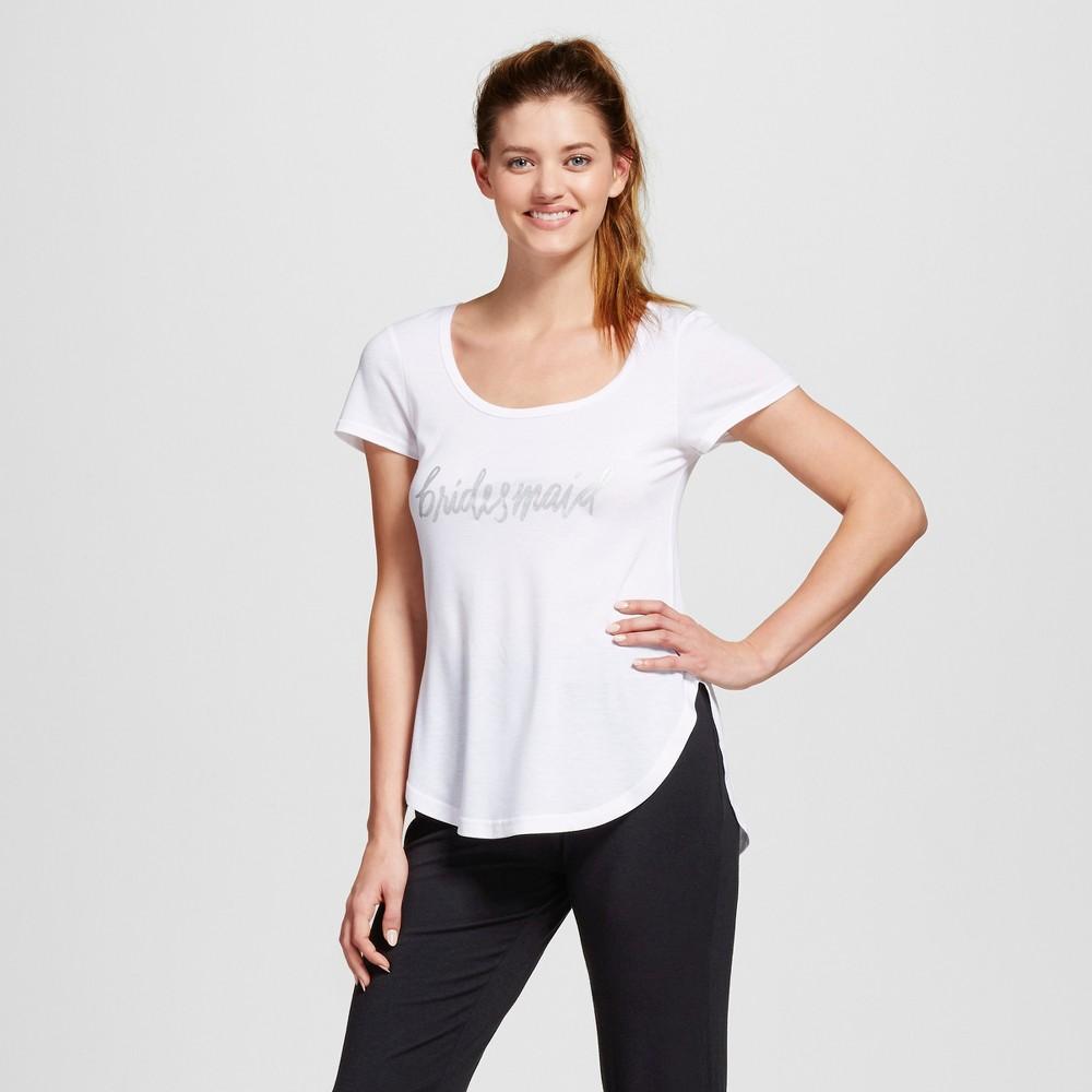 Bride & Beauties by Bedhead Pajamas Womens Bridesmaid Sleepwear T-Shirt - White M