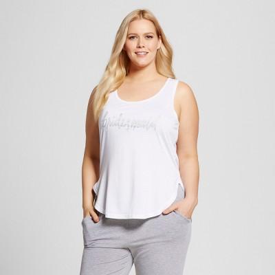 Bride & Beauties® by Bedhead Pajamas® Women's Plus Size Bridesmaid Sleepwear Tank - White 2X