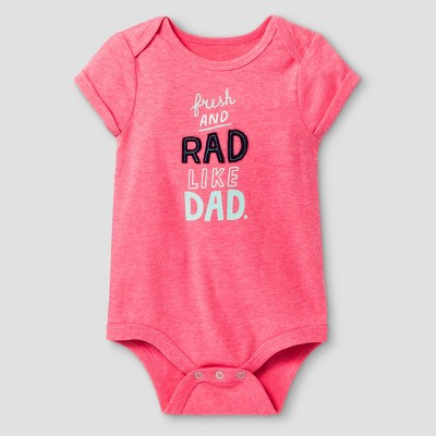 Baby Girls' Short Sleeve Rad like Dad Bodysuit - Cat & Jack™ Pink 6-9 M