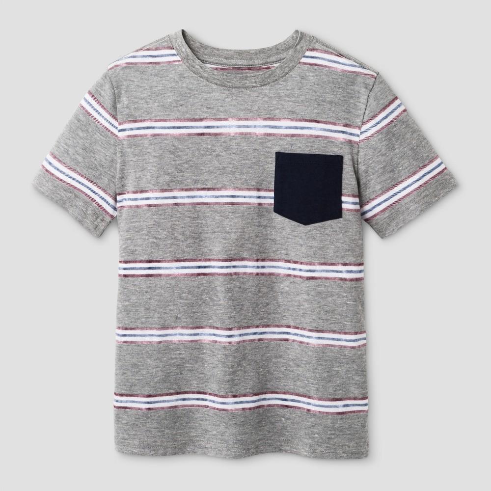 Boys Stripe Printed Pocket T-Shirt - Cat & Jack Navy S, Blue