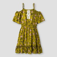 Girls' Cold Shoulder Dress - Art Class Moss. opens in a new tab.