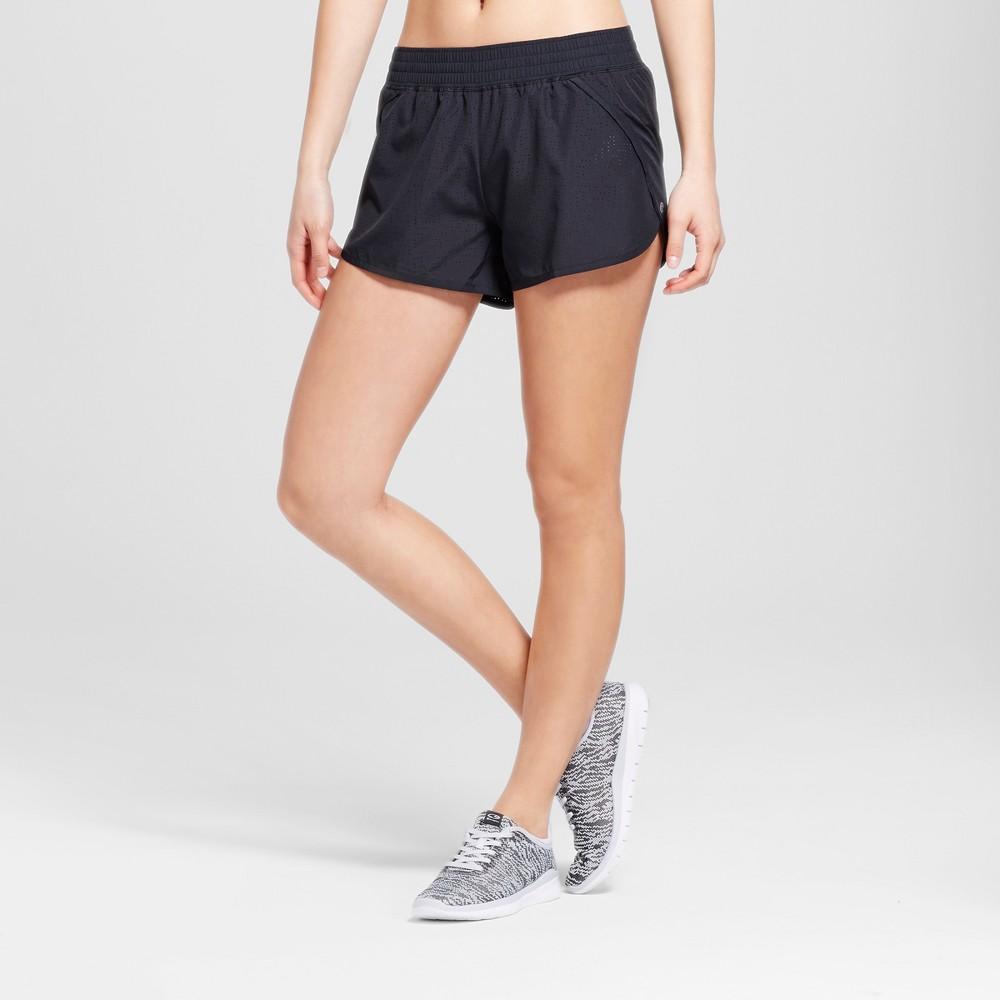 Womens Run Shorts - C9 Champion Black Solid L