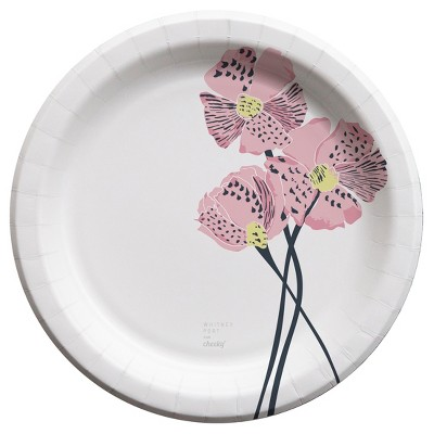 Cheeky® Home Pink Poppies 10\  Paper Plates - 25ct  sc 1 st  Target & Cheeky® Home Pink Poppies 10\