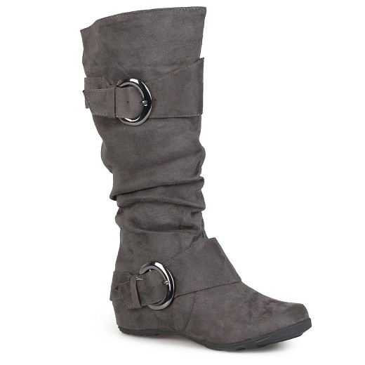 s journee collection slouch buckle knee high