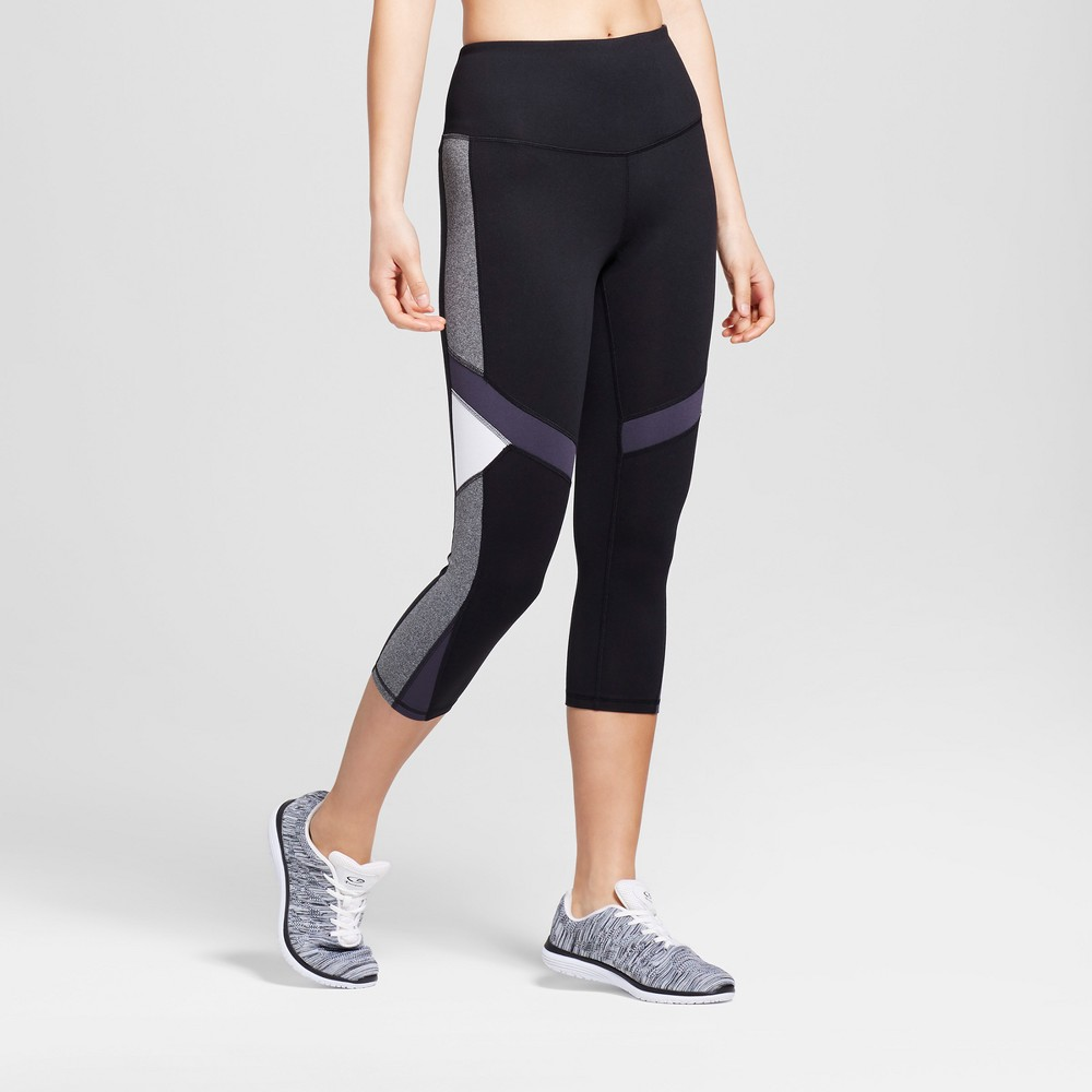 Women's Freedom Capri Leggings - C9 Champion Black/Military Blue L