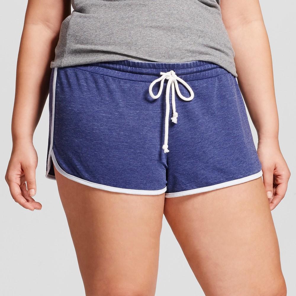 Womens Plus Size Pajama Shorts - Grayson Threads (Juniors) Cavalry Blue 1X