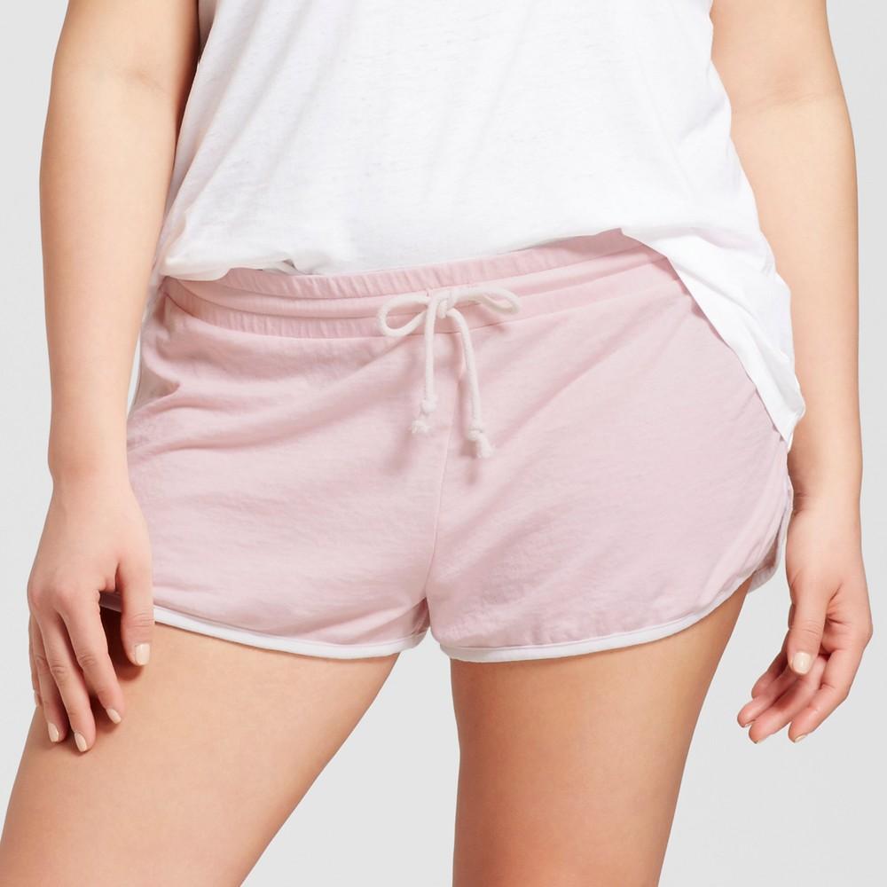 Womens Plus Size Pajama Shorts - Grayson Threads (Juniors) Cream Blush 3X, Pink