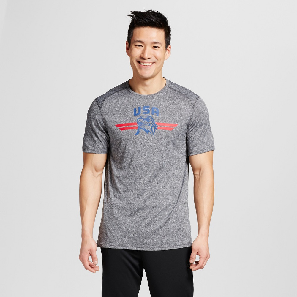 Mens USA Graphic T-Shirt - C9 Champion Charcoal Heather XL
