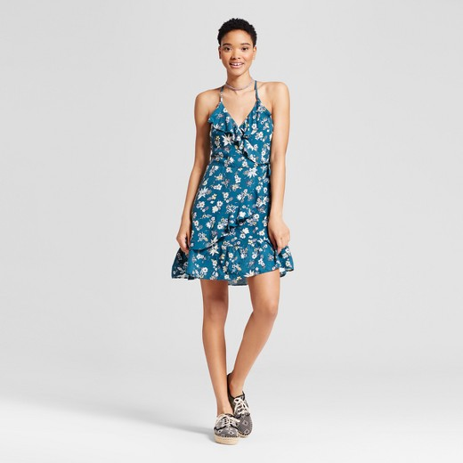 Women's Ruffle Wrap Dress - Mossimo Supply Co.™ Blue : Target
