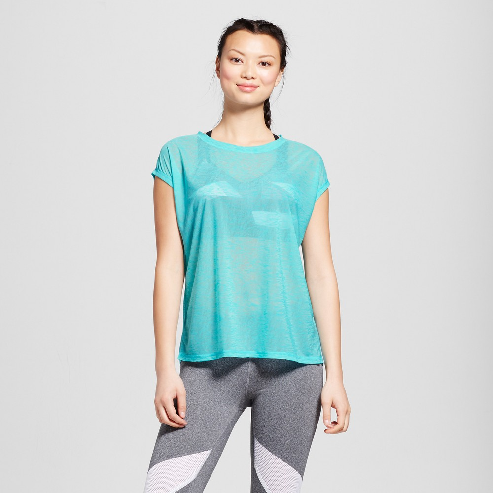 Womens Run Sheer T-Shirt - C9 Champion Turquoise L